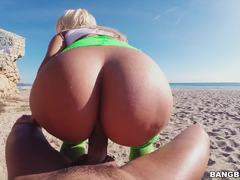 Beach Boning Big Ass Hottie Blondie Fesser
