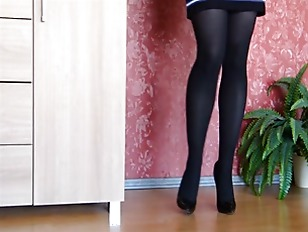 Sexy Black High Heels And Stockings
