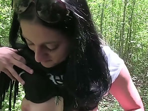 Naughty Sabina Gets Fucked In The Bush As Payment For Dropping Litter In The Public Place